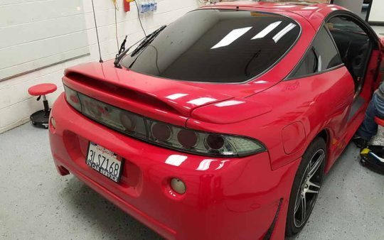 Car-Window-Tinting-Service-Mitz-Eclipse-Back-Right-Roseville-CA